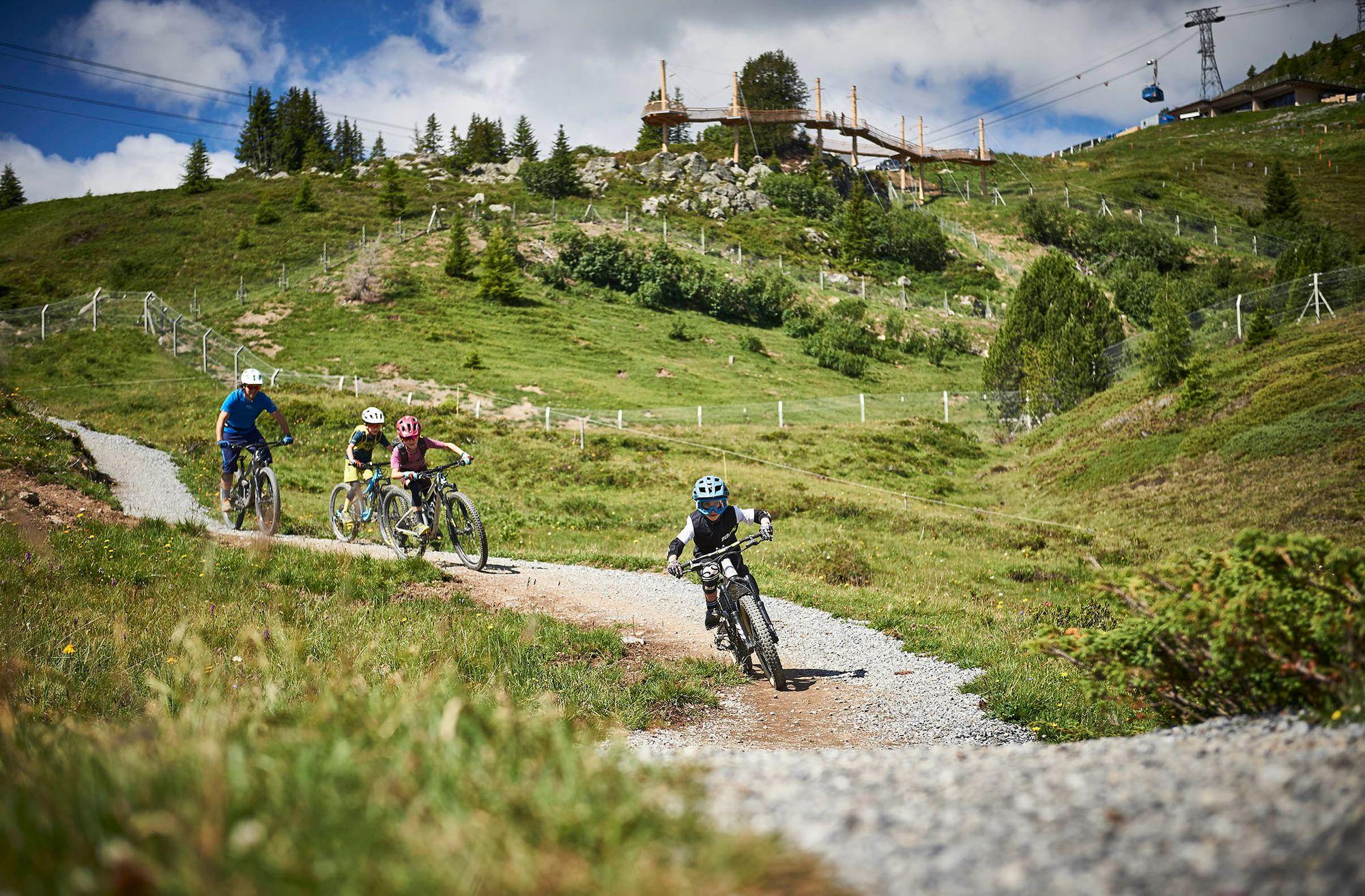 Mountainbiken mit Kids:   Hier steppt der Bär