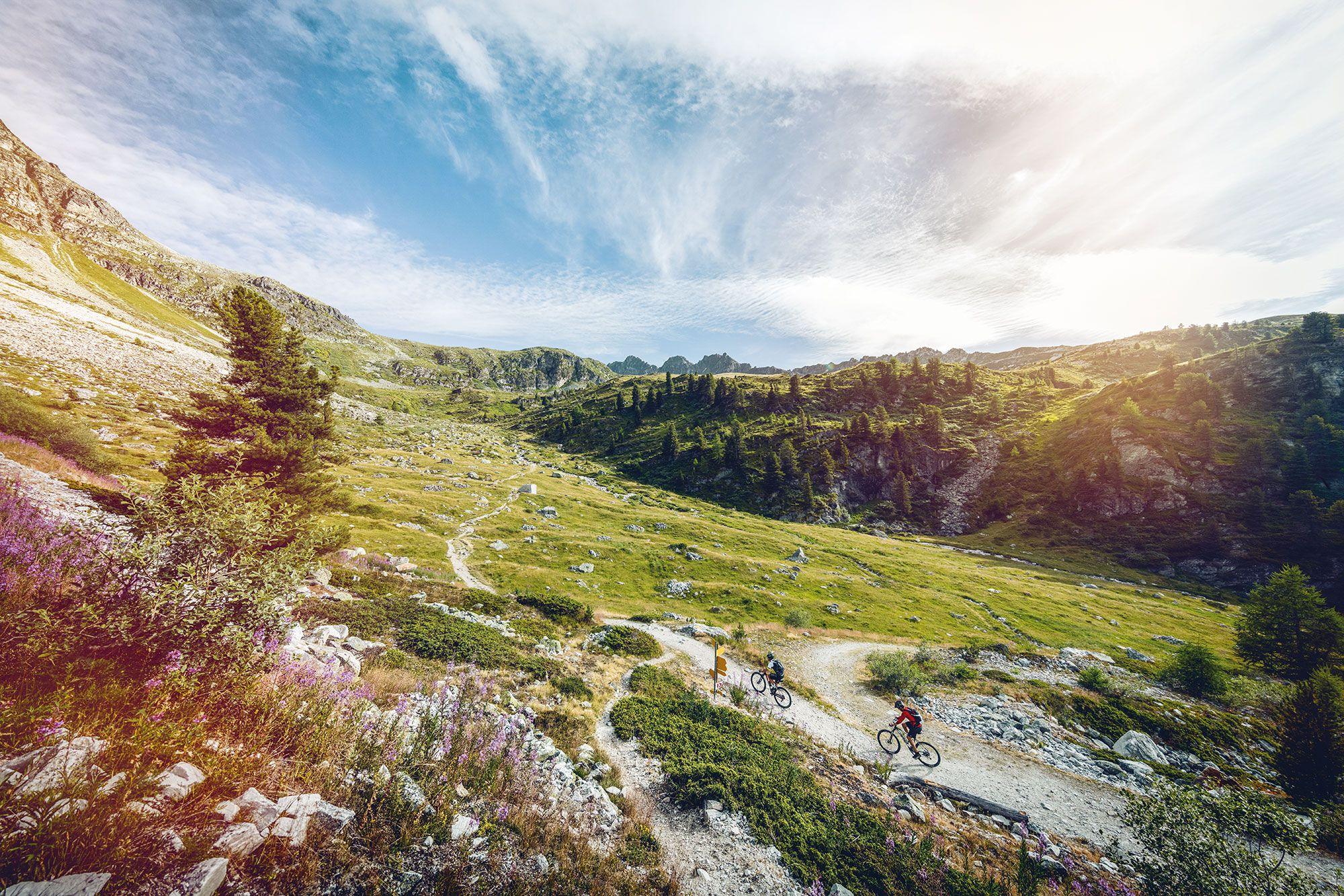 Spielplatz der Superlative   - Mountainbiken im Wallis