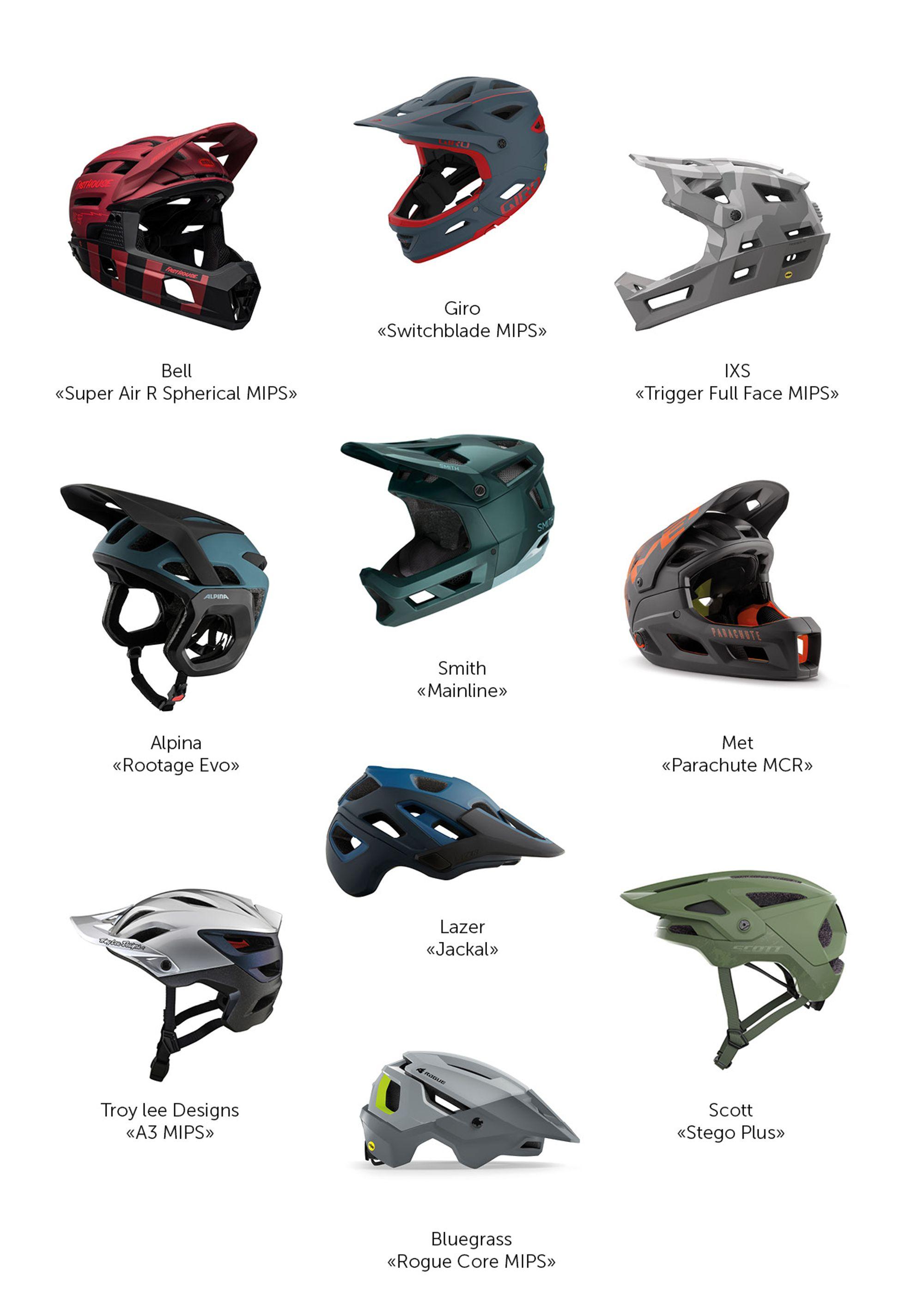 Harte Nuss:   10 Helme für die Trailjagd