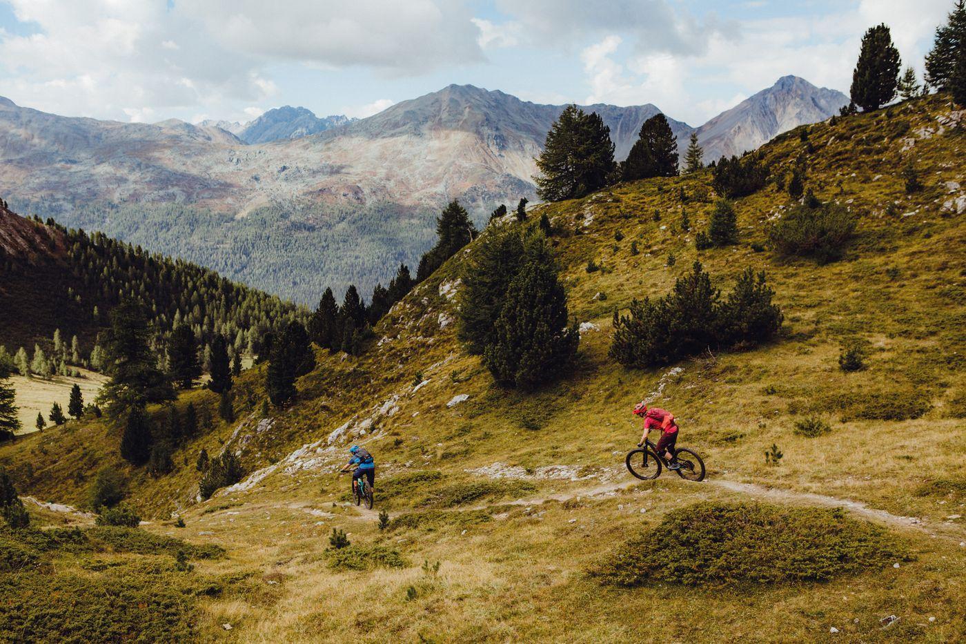 Crappa Prada God - Vom Pass da Costainas ins Val Müstair.