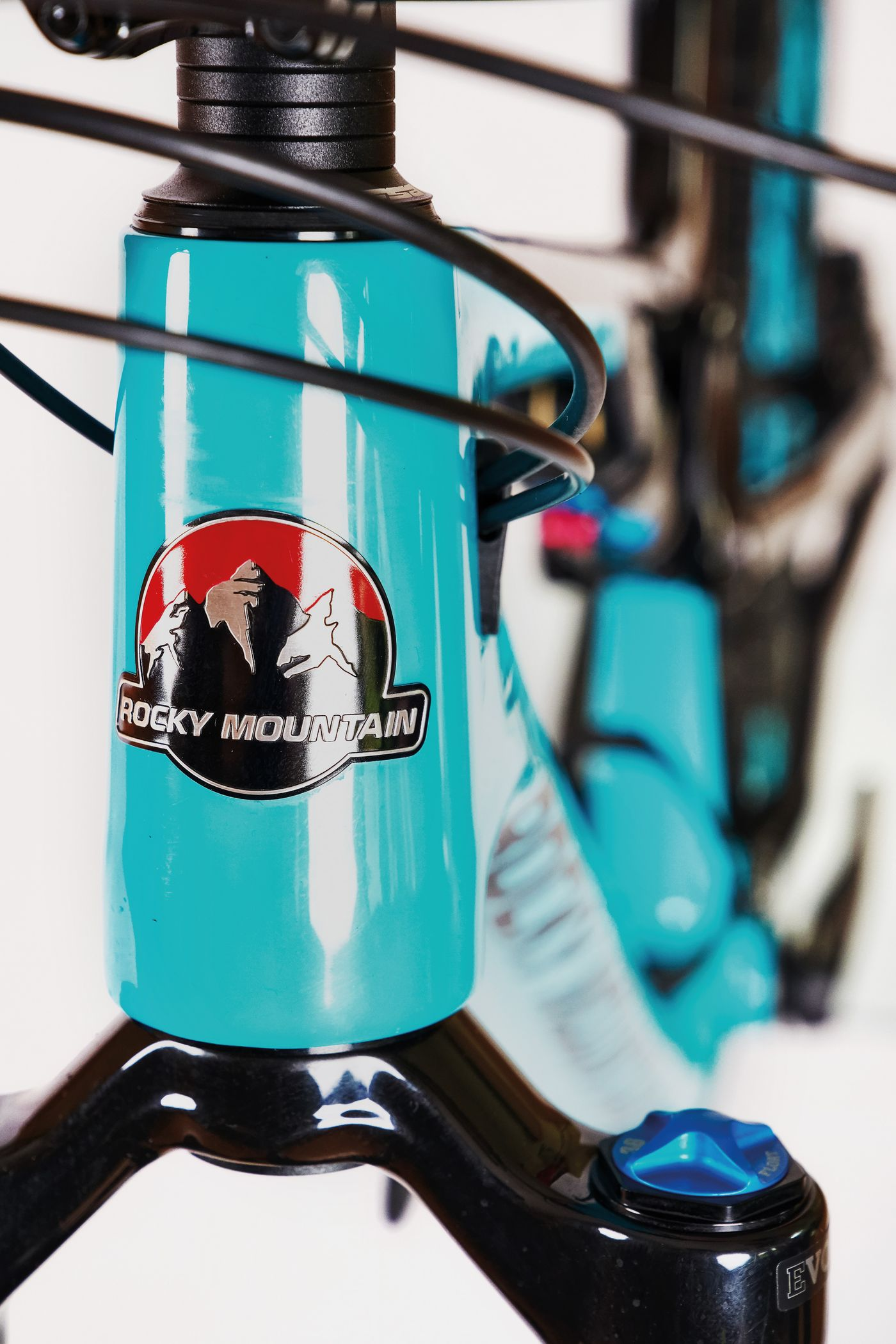 Rocky Mountain Thunderbolt Carbon 90 BC Edition - Steuerrohr Logo