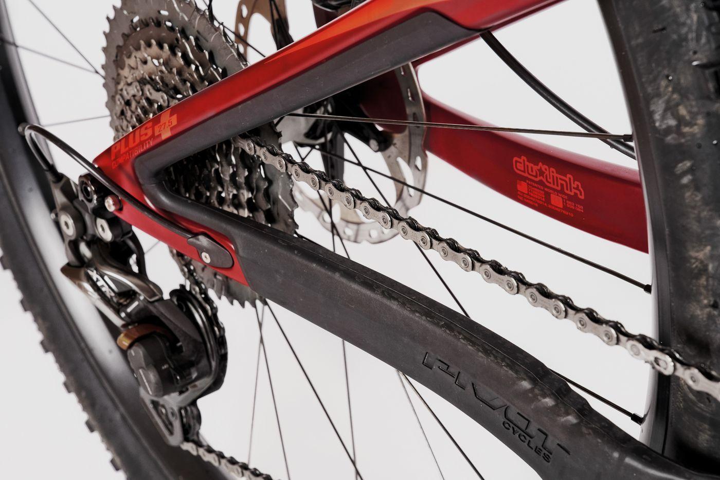Pivot Trail 429 - Gummi-Protektoren schützen Ketten- und Sitzstrebe