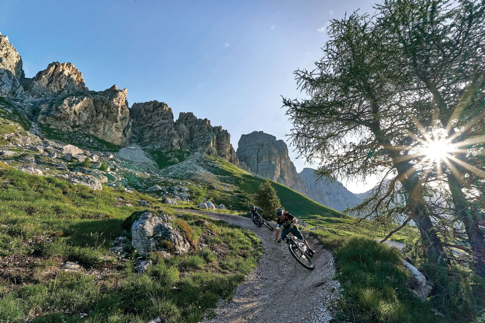 Filmreif Mountainbiken in Gröden